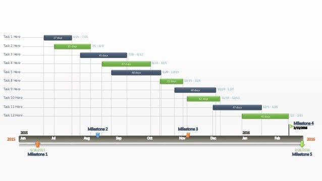 Editable Powerpoint Gantt Chart Template Wide Screen