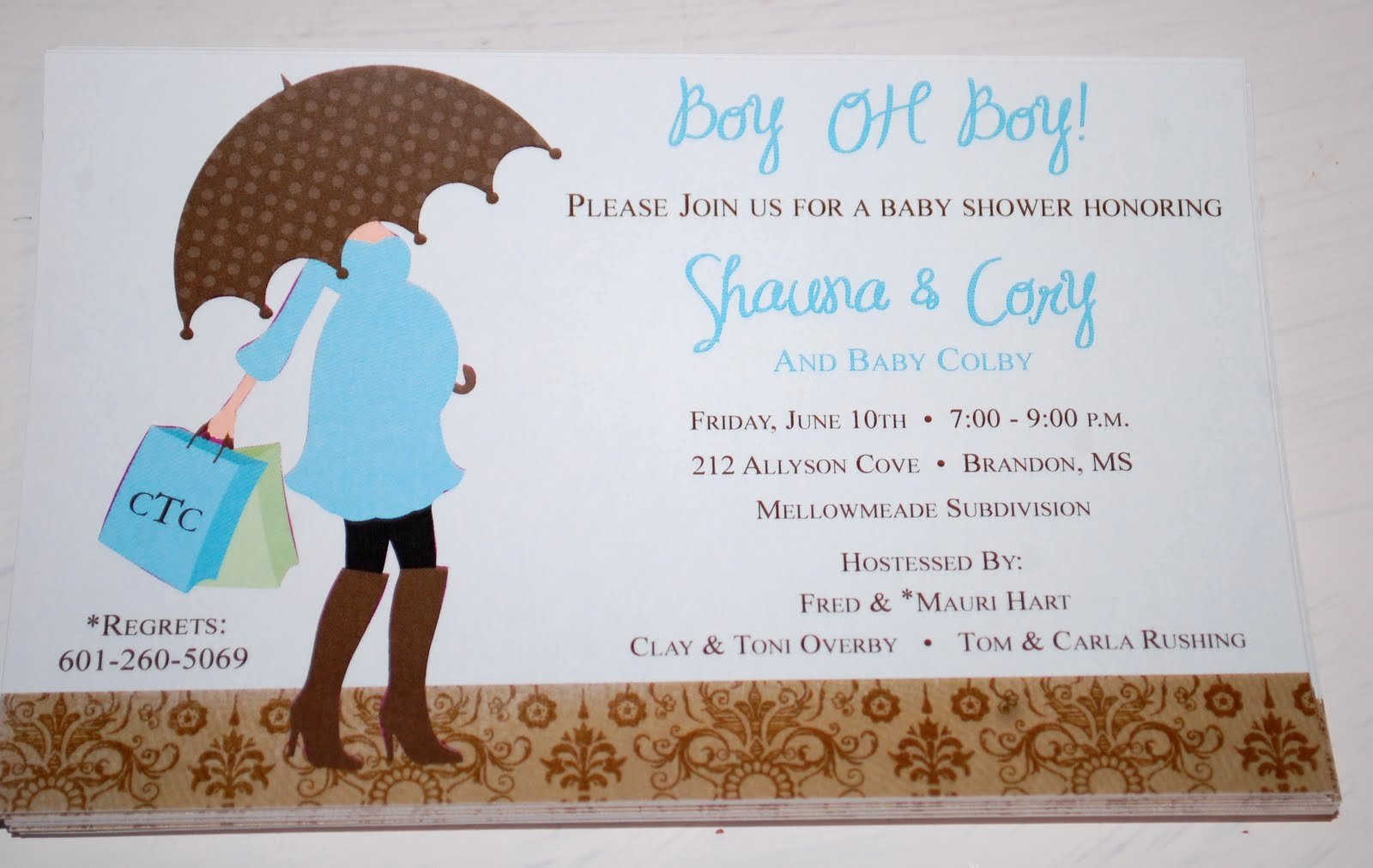 Editable Print Baby Shower Invitations