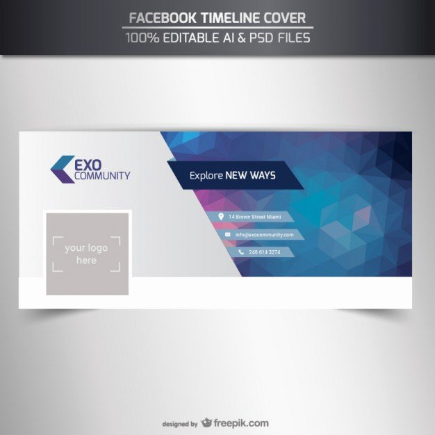 Editable Timeline Cover Template Vector