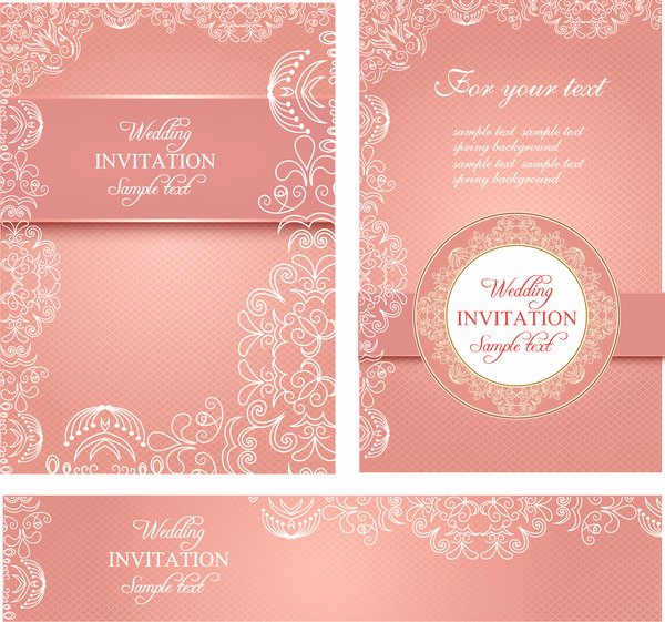 Editable Wedding Invitations Free Vector 3 767