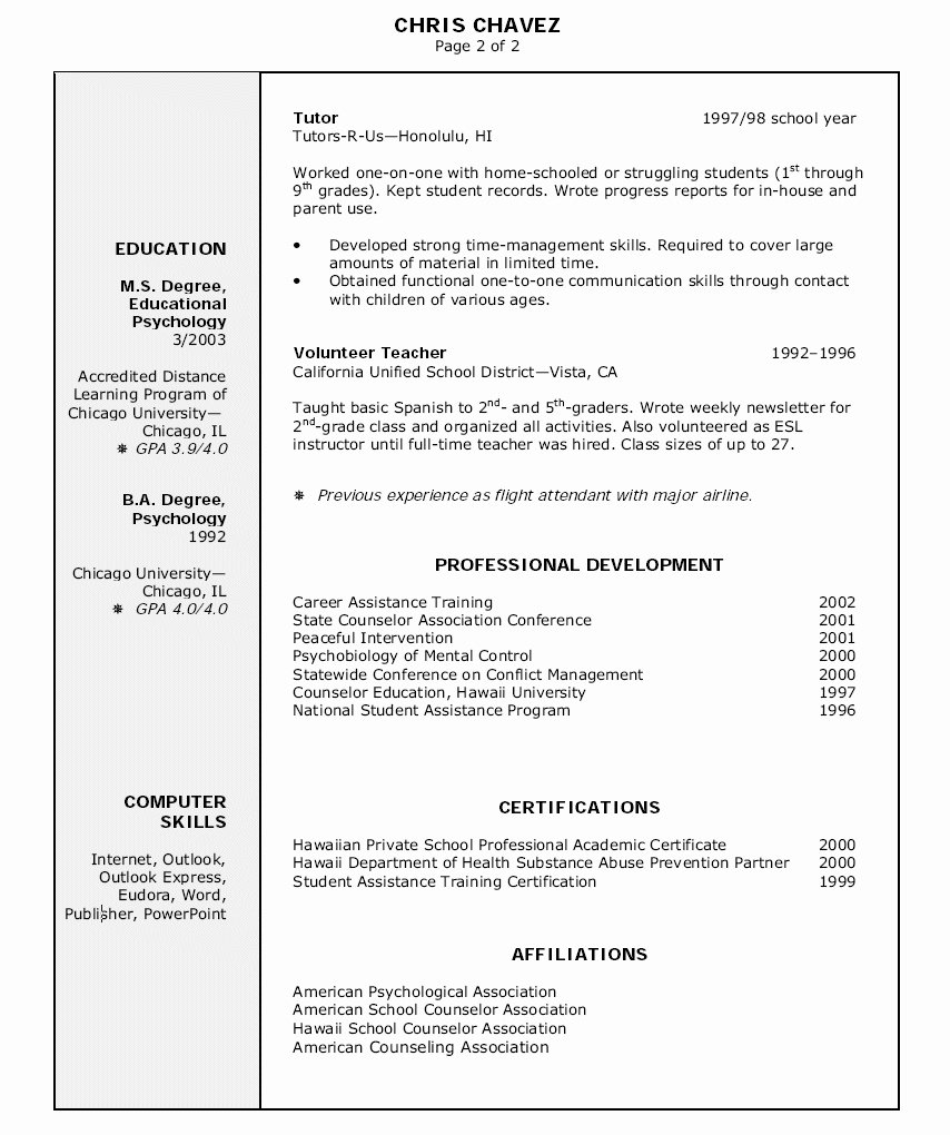 Education Section A Resume – Perfect Resume format