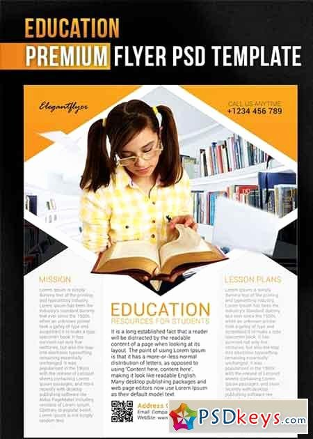 Education V1 Flyer Psd Template Cover Free