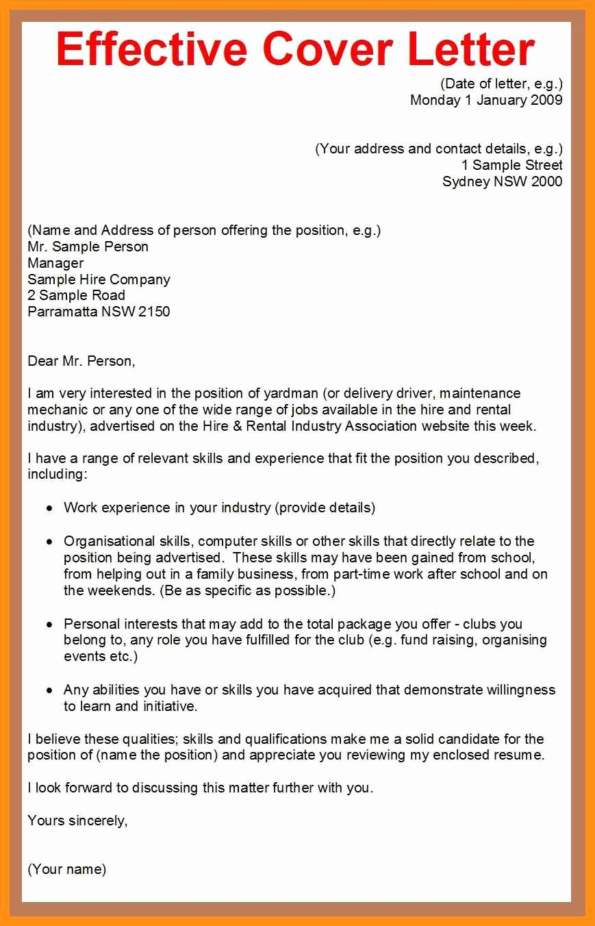 Effective Cover Letter Examples