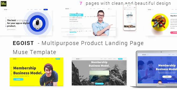 Egoist – Multipurpose Product Landing Page Muse Template