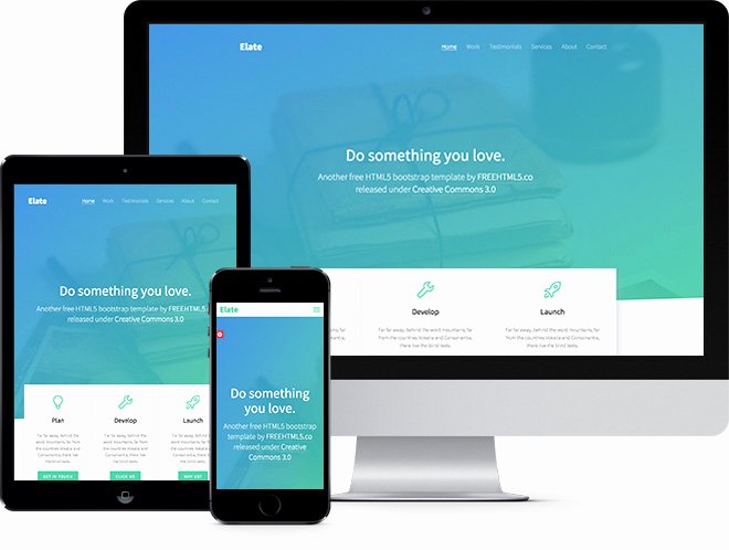 Elate Free HTML5 Bootstrap Template Freehtml5