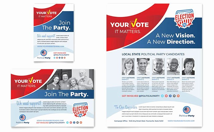 election posters flyer designs for political campaigns