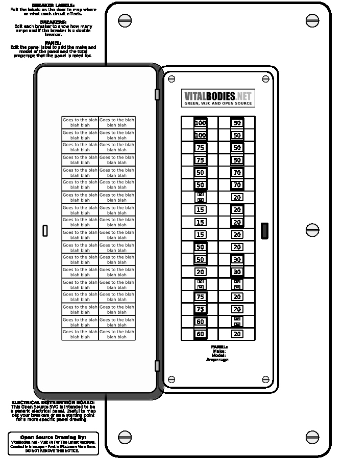 Electric Fuse Box Template Electric Get Free Image About