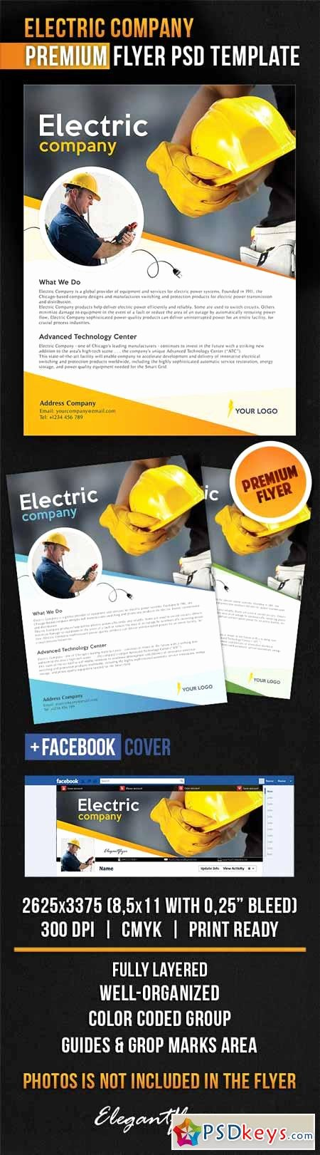 Electric Pany – Flyer Psd Template Cover