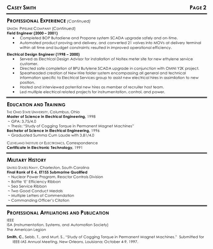 Electrical Engineer Resume Offres D Emploi
