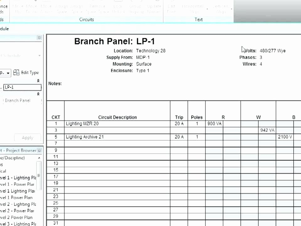 Electrical Panel Directory Panel Schedule Template Gallery