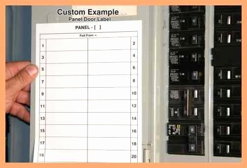 Electrical Panel Label Template Excel Unique Circuit