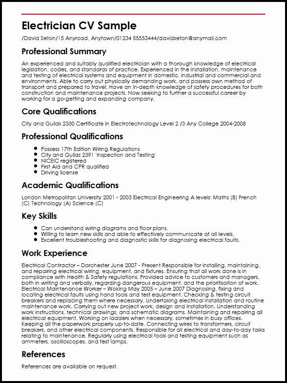 Electrician Resume F Resume