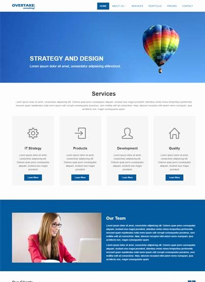 Electrify Bootstrap Template X Responsive Website