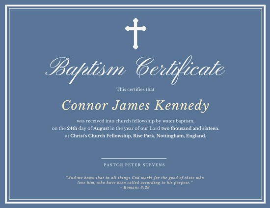 Elegant Baptismal Certificate Templates by Canva