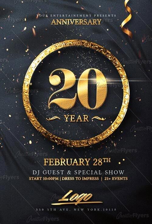 Elegant Birthday Invitation Flyer Psd Templates Creative