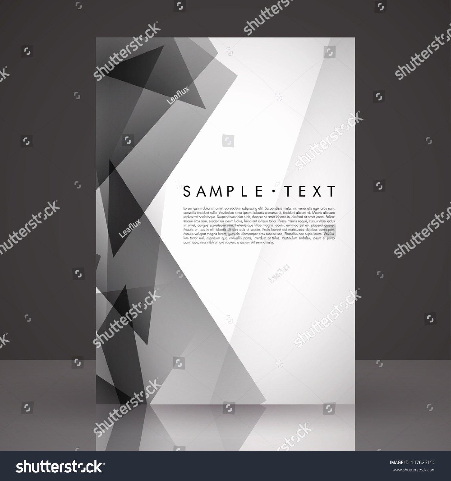 Elegant Black White Flyer Template Eps Stock Vector