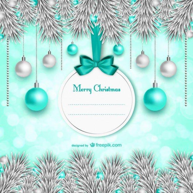 Elegant Christmas Card Template Vector