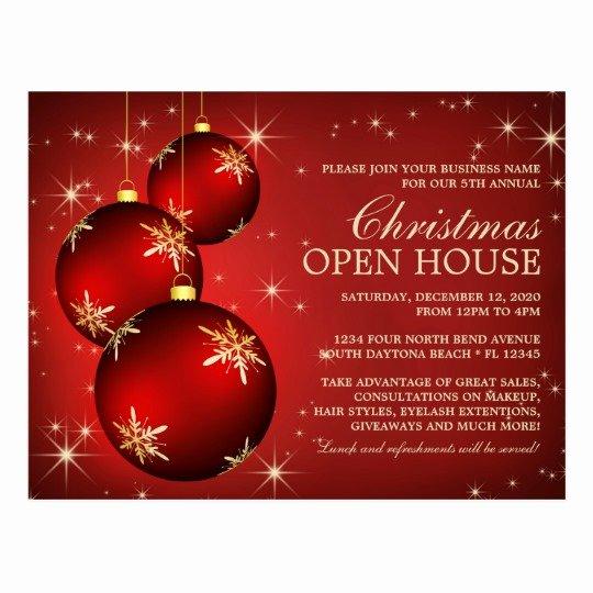 Elegant Christmas Open House Invitation Template Postcard