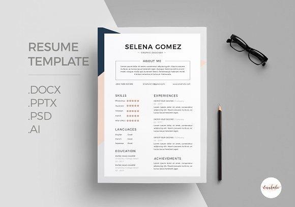 Elegant Cv Template Resume Templates Creative Market