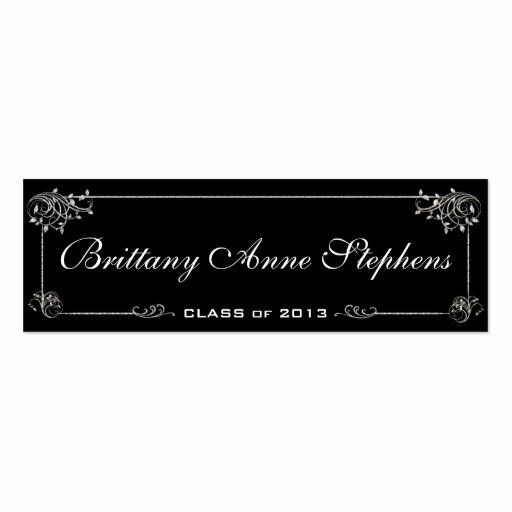 Elegant Graduation Name Card Insert Business Cards