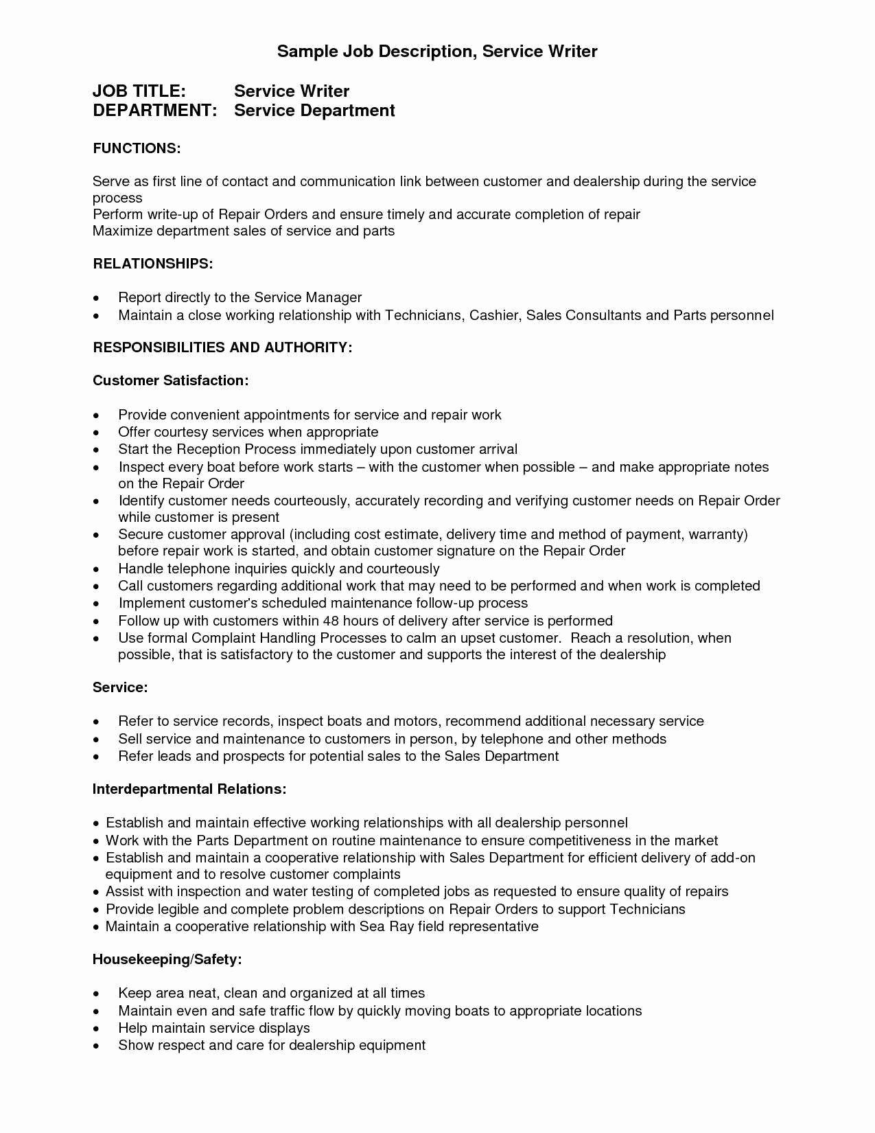 handyman job description for resume
