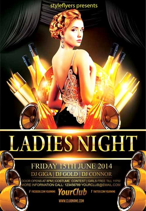 Elegant La S Night Party Free Flyer Template