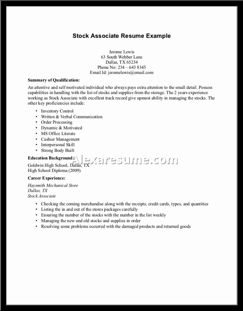 Elegant No Work Experience Resume Content Sample Resume No