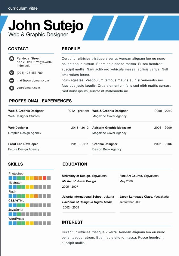 Elegant One Page Resume Template