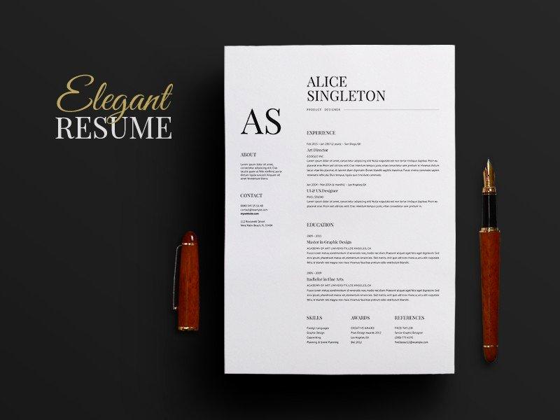 Elegant Resume Template Alidfo