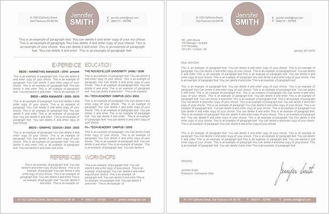 Elegant Resume Template Premium Line Of Resume
