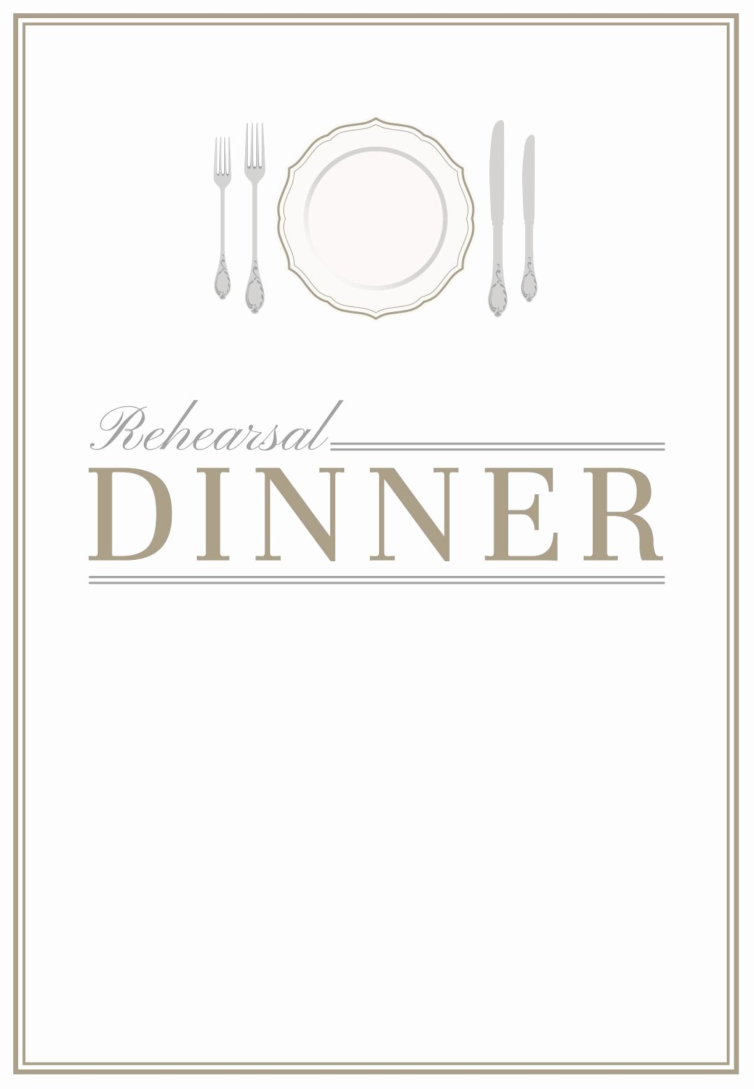Elegant Setting Free Printable Rehearsal Dinner Party