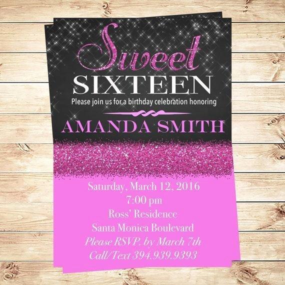 Elegant Sweet 16 Invitation Templates Templates Resume