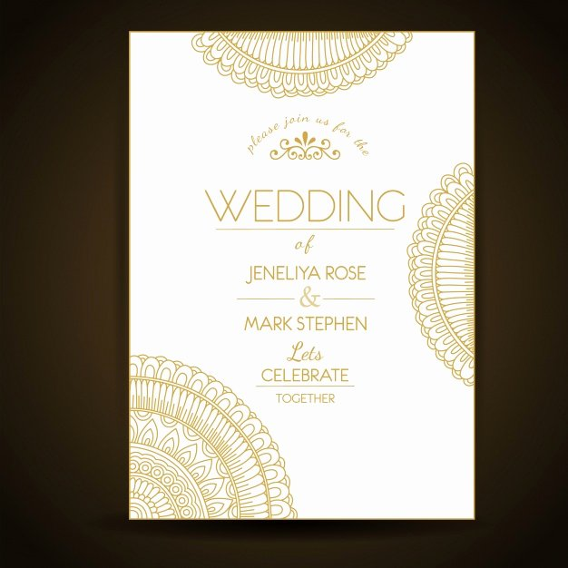 Elegant Wedding Invitation Template Vector