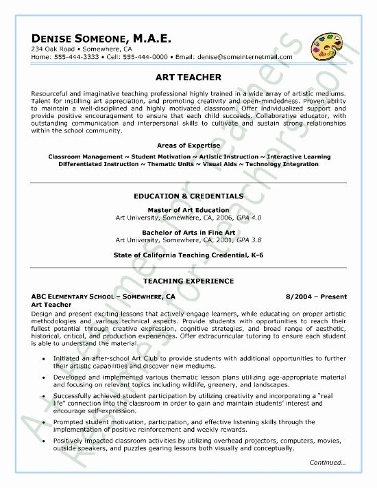 Elementary Education Resumes Best Resume Collection