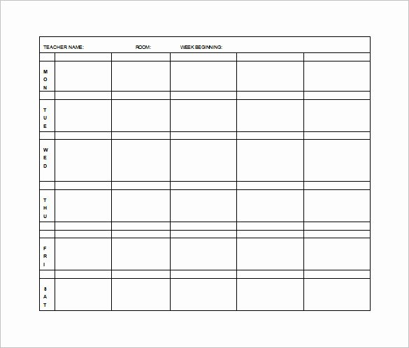 Elementary Lesson Plan Template 11 Free Word Excel