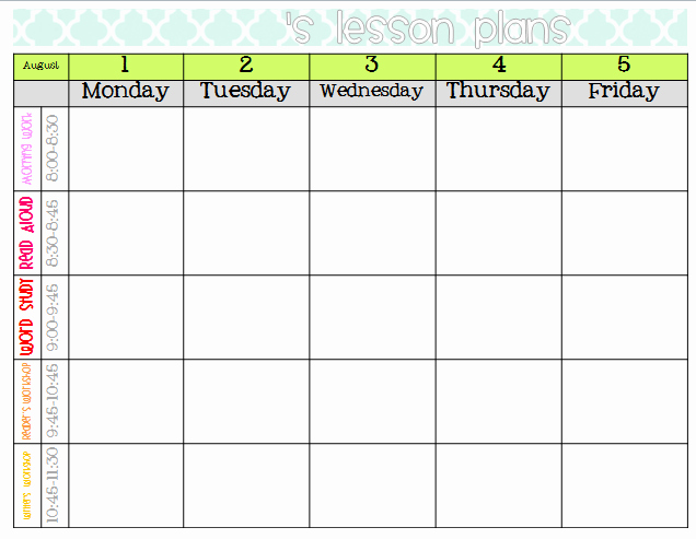 Elementary organization Two Updated Lesson Plan Templates