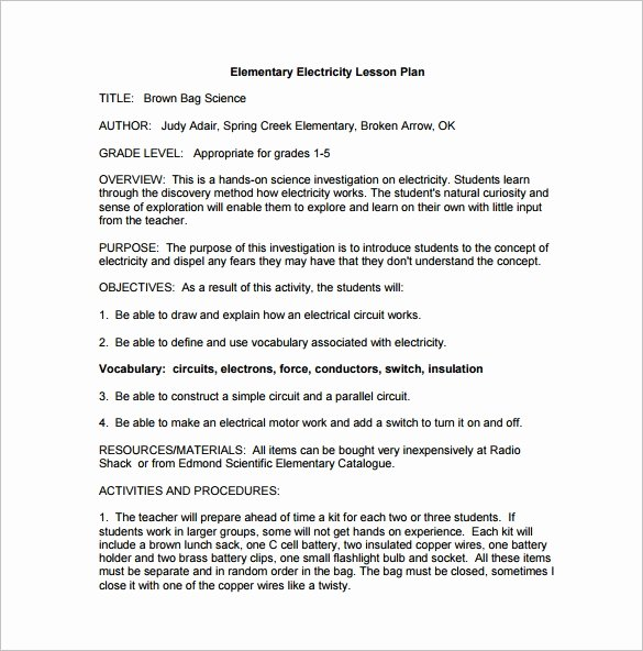 Elementary School Library Lesson Plan Template 1000