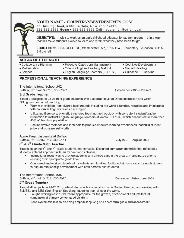 Elementary Teacher Applying for Middle School Sample