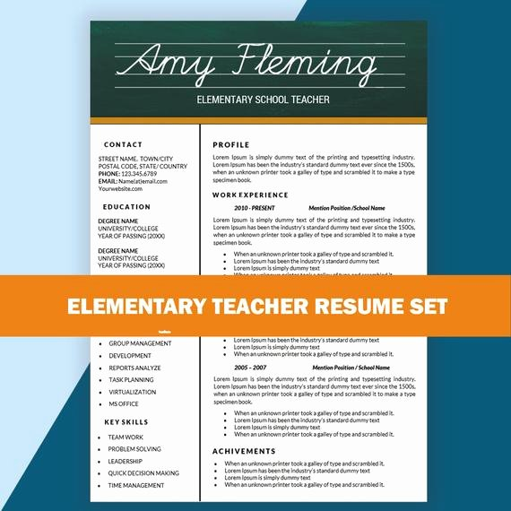 Elementary Teacher Resume Cv Templates Teaching by Resumesouk