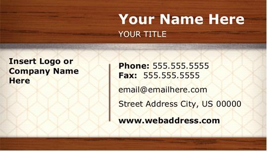 Elements Business Card Design