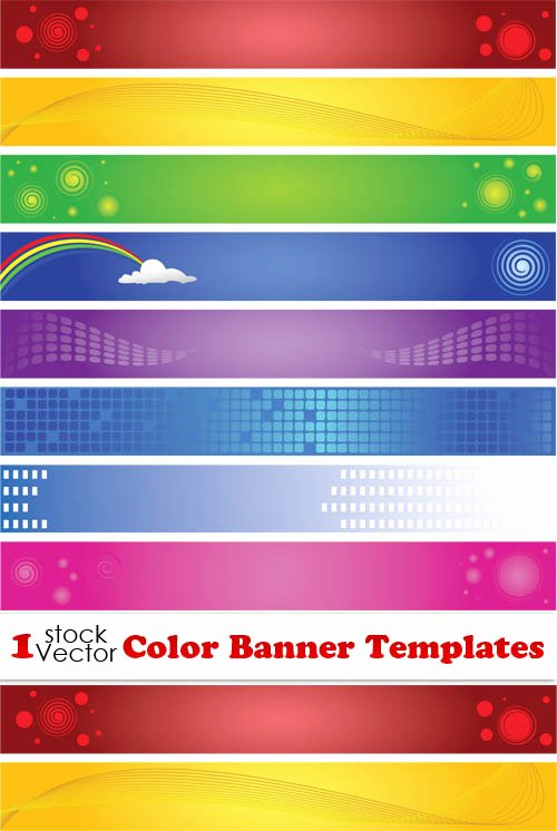 Elements Of Color Banner Templates Vector Vector Banner