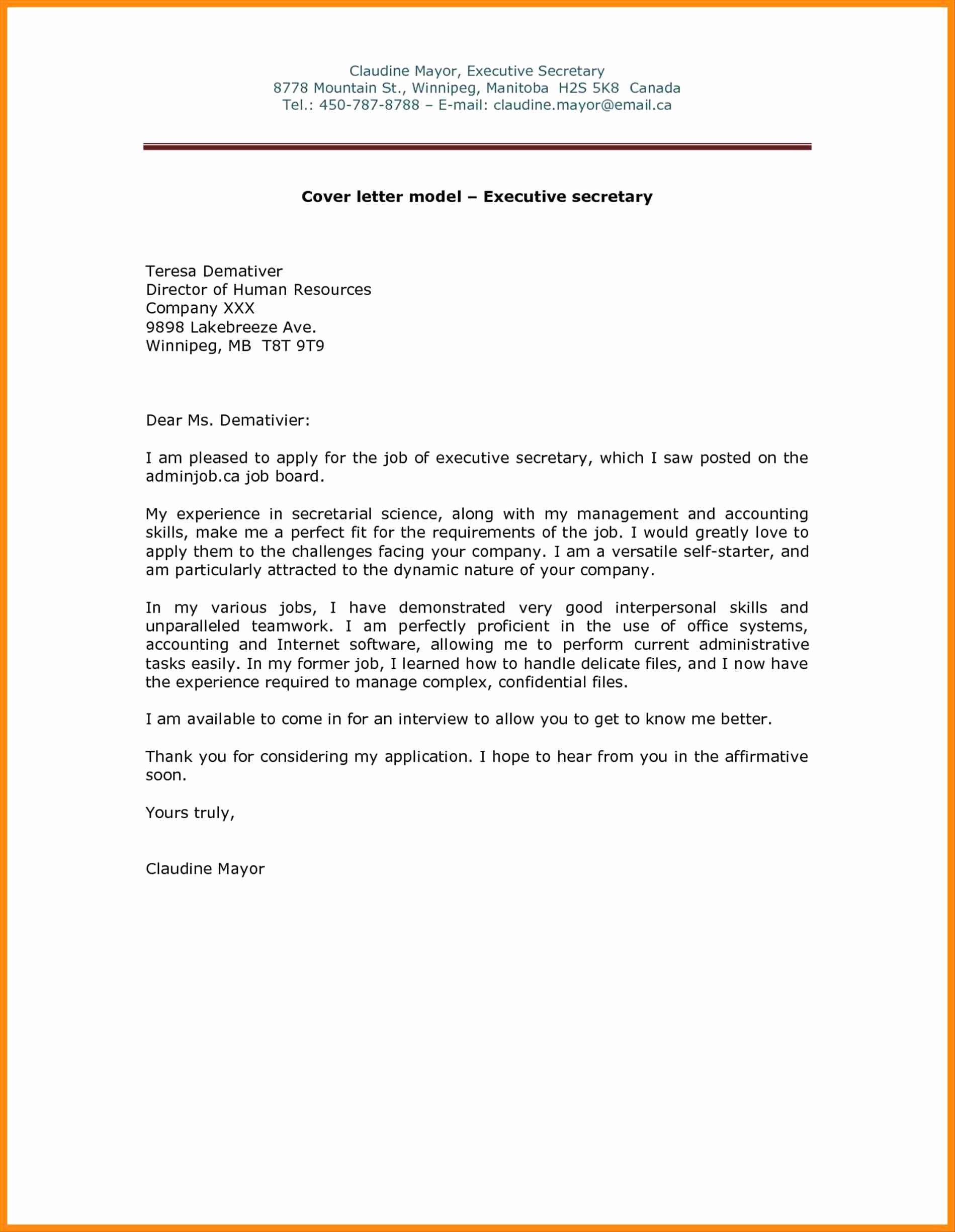Email Job Application Letters Writing Email Cover Letter
