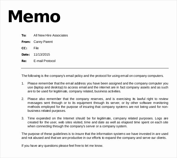 Email Memo Template – 6 Free Word Pdf Documents Download