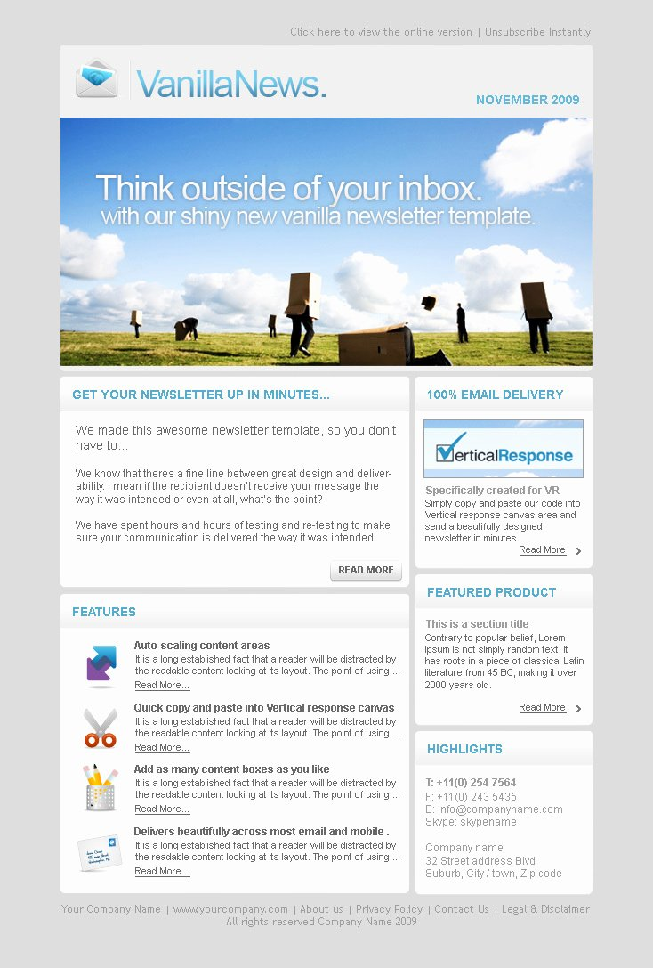 Email Newsletter Templates Word Templates Resume