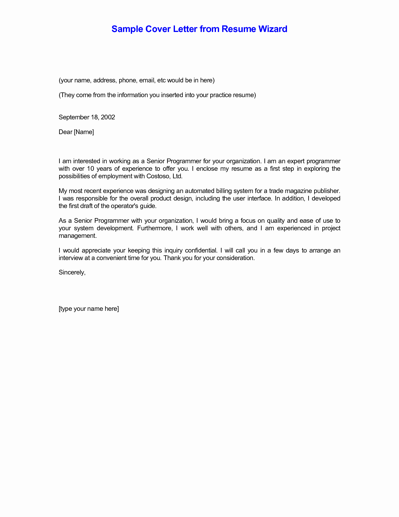 Email Resume Cover Letter Examples Sample Cover Letter for