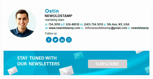 Email Signature Generator for Your Pany Newoldstamp