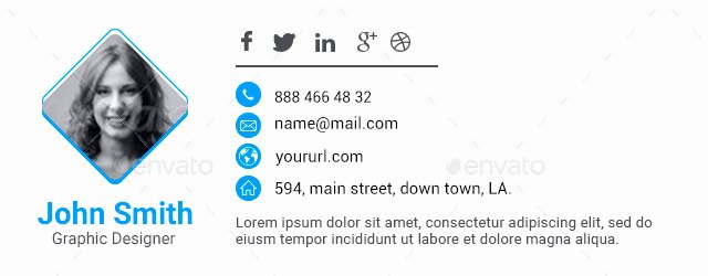Email Signature Interest HTML Email Signature Template