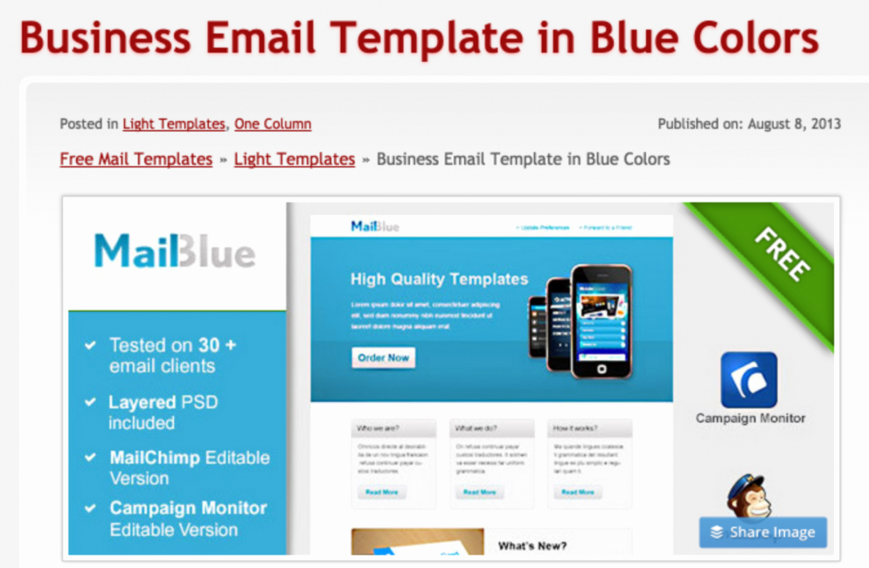 Email Templates Free