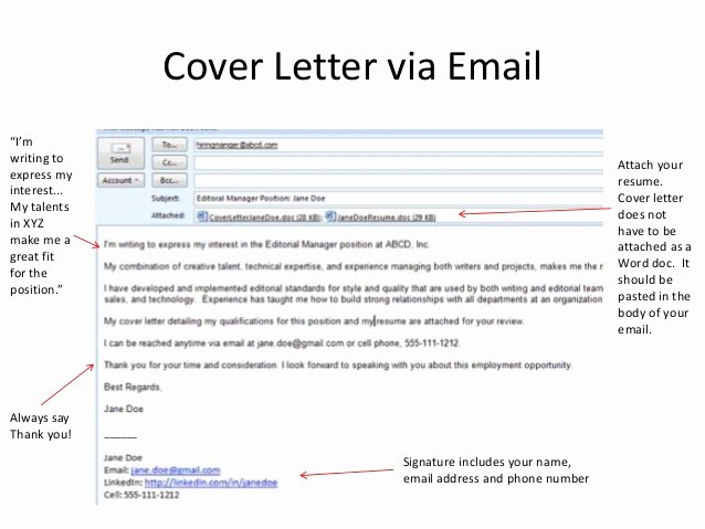 Email to Go with Cover Letter and Cv Writefiction581 Web