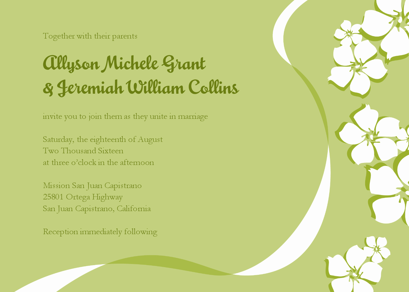 Email Wedding Invitations Templates